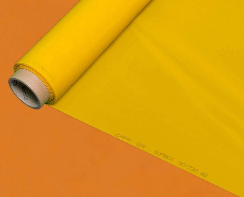 43 tessuto giallo serigrafia per quadri per stampa serigrafica